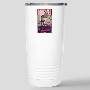 Ms. Marvel Retro Stainless Steel Travel Mug