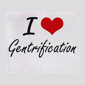 I love Gentrification Throw Blanket