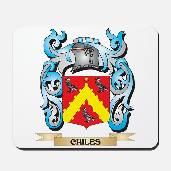 Chiles Coat of Arms - Family Crest Mousepad