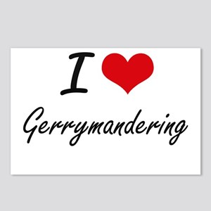 I love Gerrymandering Postcards (Package of 8)