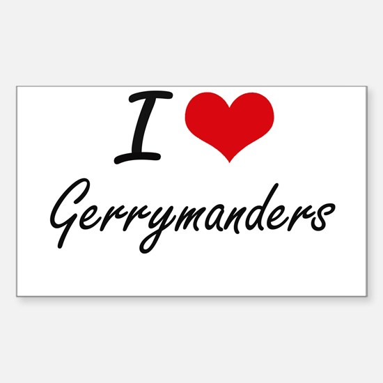 I love Gerrymanders Decal