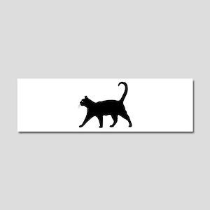Black Cat Car Magnet 10 x 3