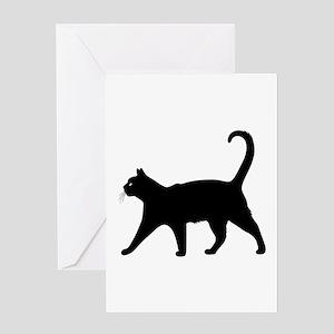 Black Cat Greeting Cards