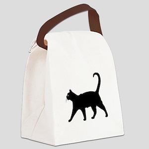 Black Cat Canvas Lunch Bag