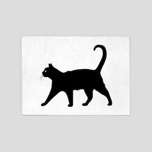 Black Cat 5'x7'Area Rug