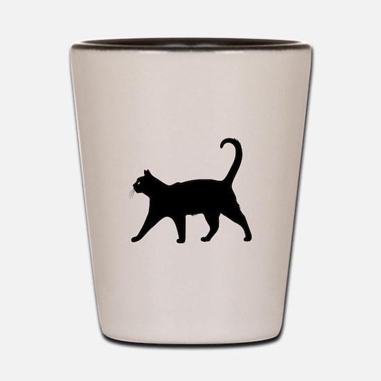 Black Cat Shot Glass