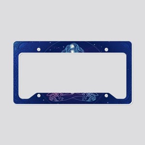 Yoga Girl Detailed Design License Plate Holder