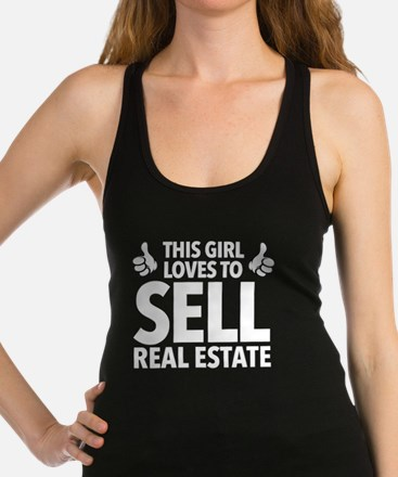 Girl Sells Real Estate Racerback Tank Top