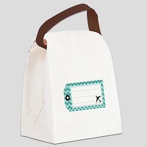 Luggage Tag Canvas Lunch Bag