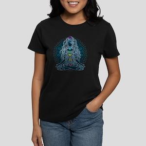 Yoga Girl Pose Blue Women's Dark T-Shirt