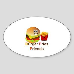 BURGER FRIES FRIENDS - BFF Sticker (Oval)