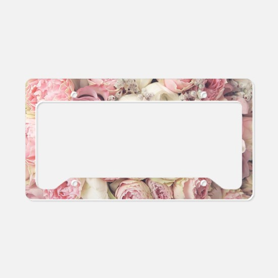 Roses License Plate Holder