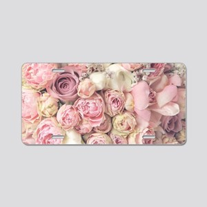 Roses Aluminum License Plate