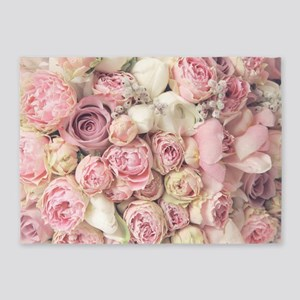 Roses 5'x7'Area Rug