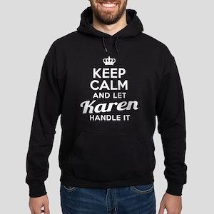 Keep Calm Karen Hoodie (dark)