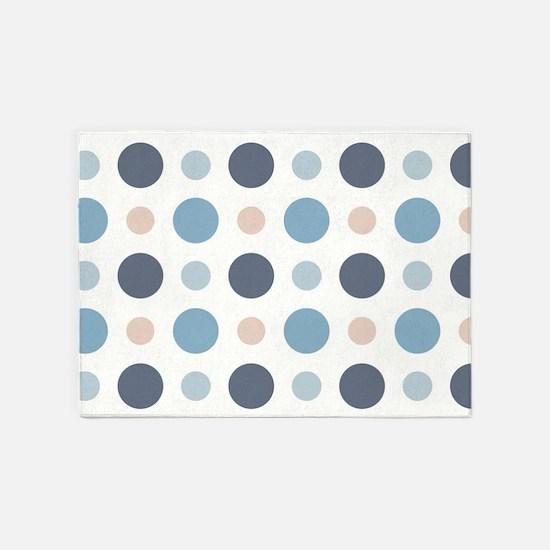 Polka Dots 5'x7'Area Rug