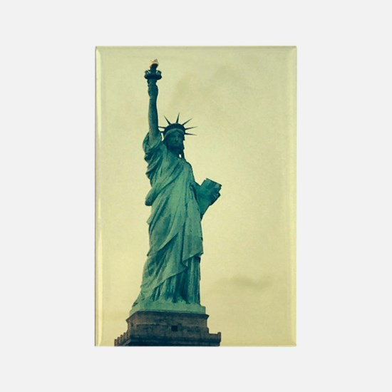 Statue of Liberty Good Tidings fo Rectangle Magnet