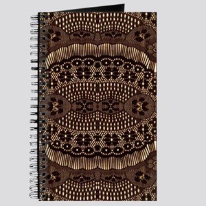 girly vintage brown lace Journal