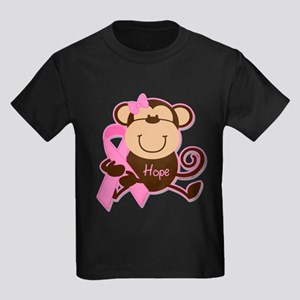 Monkey Cancer Hope Kids Dark T-Shirt