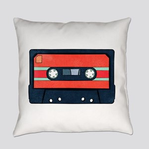 Red Cassette Everyday Pillow