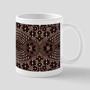 girly vintage brown lace Mugs