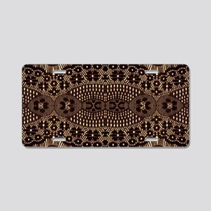 girly vintage brown lace Aluminum License Plate