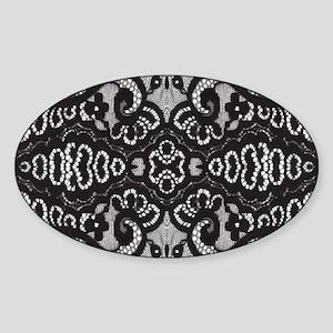 modern girly vintage lace Sticker