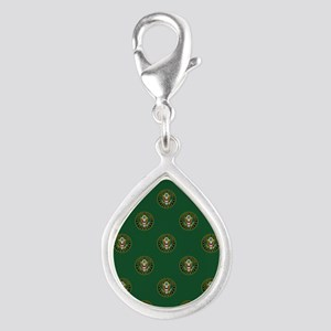 U.S. Army: Army Symbol (Gre Silver Teardrop Charm