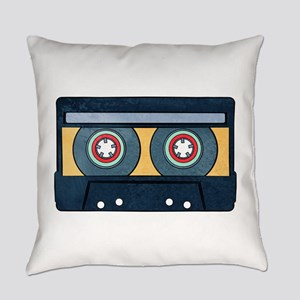 Orange Cassette Everyday Pillow