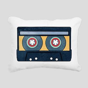 Orange Cassette Rectangular Canvas Pillow