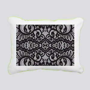 Paris vintage black lac Rectangular Canvas Pillow