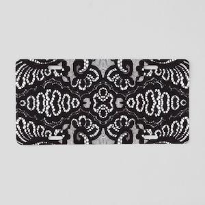 Paris vintage black lace Aluminum License Plate