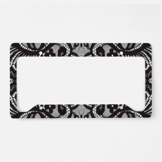 Paris vintage black lace License Plate Holder