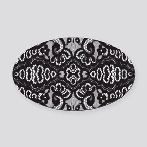 Paris vintage black lace Oval Car Magnet