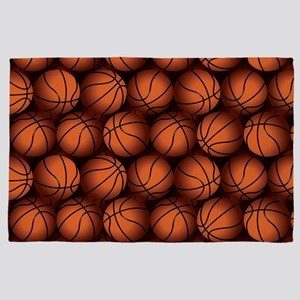 Basketball Balls 4' x 6' Rug