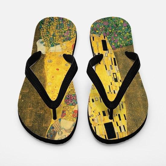The Kiss - Gustav Klimt Flip Flops