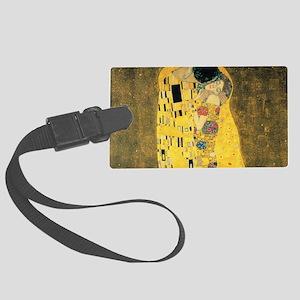 The Kiss - Gustav Klimt Large Luggage Tag