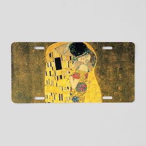 The Kiss - Gustav Klimt Aluminum License Plate