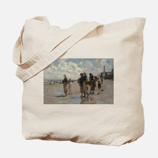 Fishing for Oysters at Cancale - John Sar Tote Bag