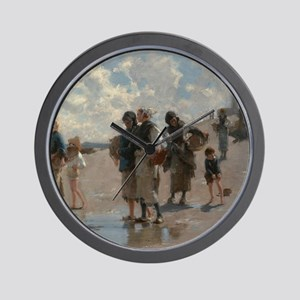 Fishing for Oysters at Cancale - John S Wall Clock