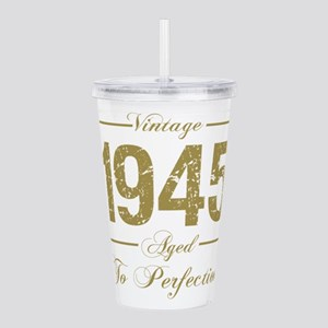 Vintage 1945 Birthday Acrylic Double-wall Tumbler