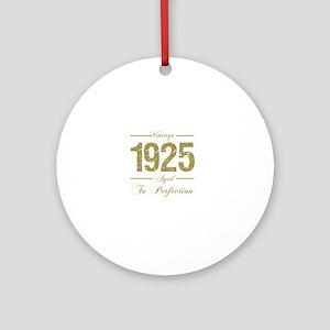 Vintage 1925 Birthday Round Ornament
