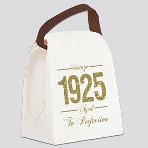 Vintage 1925 Birthday Canvas Lunch Bag