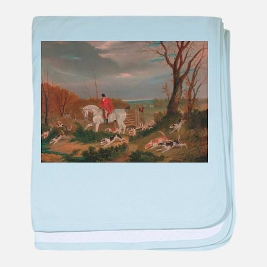 The Suffolk Hunt - John Frederick baby blanket