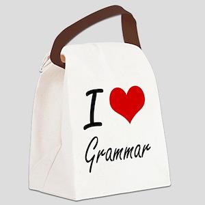 I love Grammar Canvas Lunch Bag
