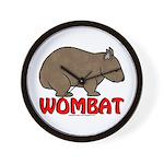 Wombat Logo Clock