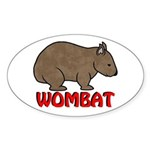Wombat Logo Oval Sticker