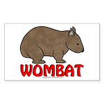 Wombat Logo Rectangle Sticker