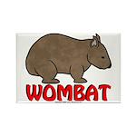Wombat Logo Rectangle Magnet (100 pack)