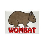 Wombat Logo Rectangle Magnet